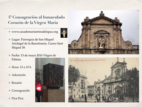 Consagraciones al Inmaculado Corazón de María y San MiguelArcangel