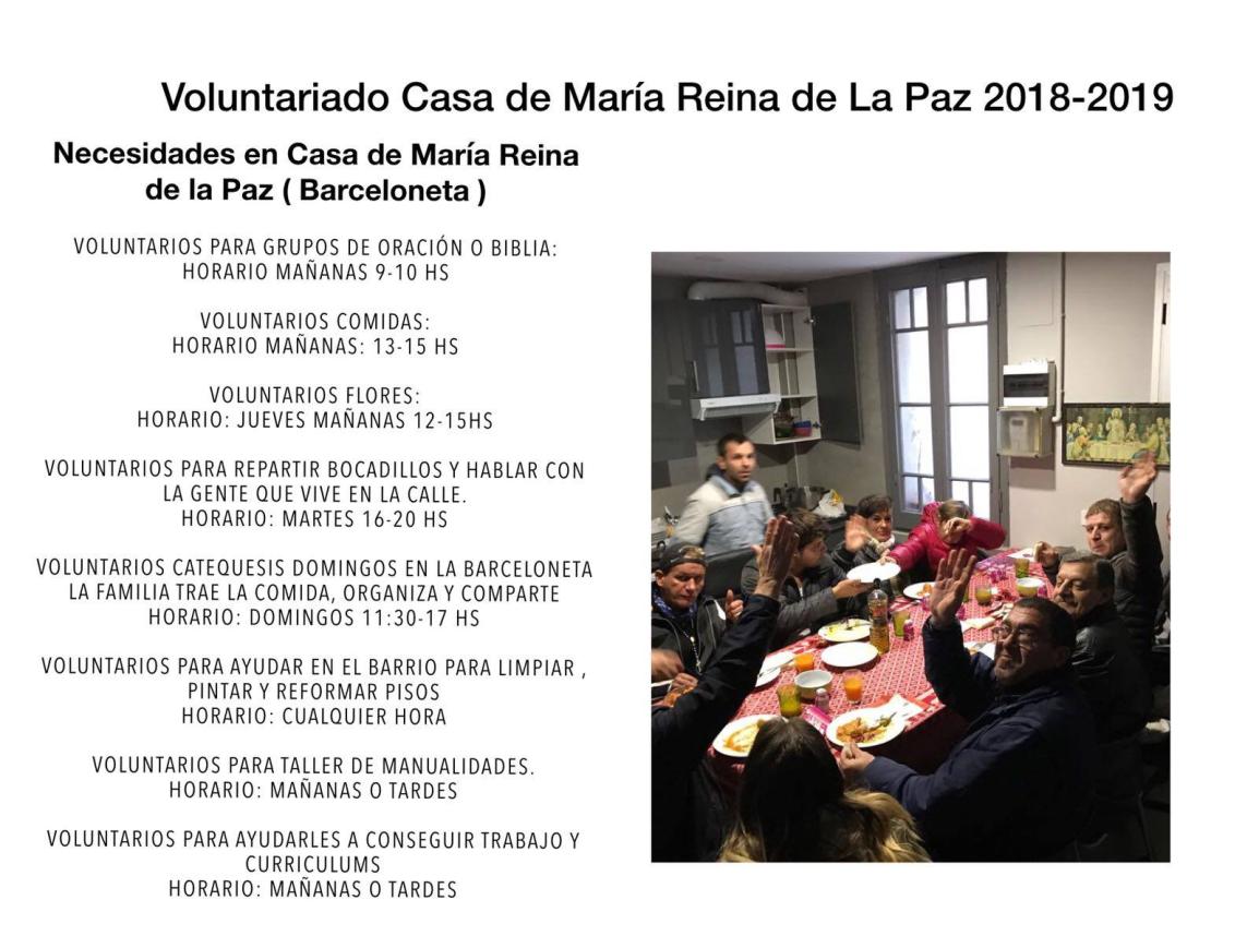 Casa de María Reina de la Paz:Informaciónº